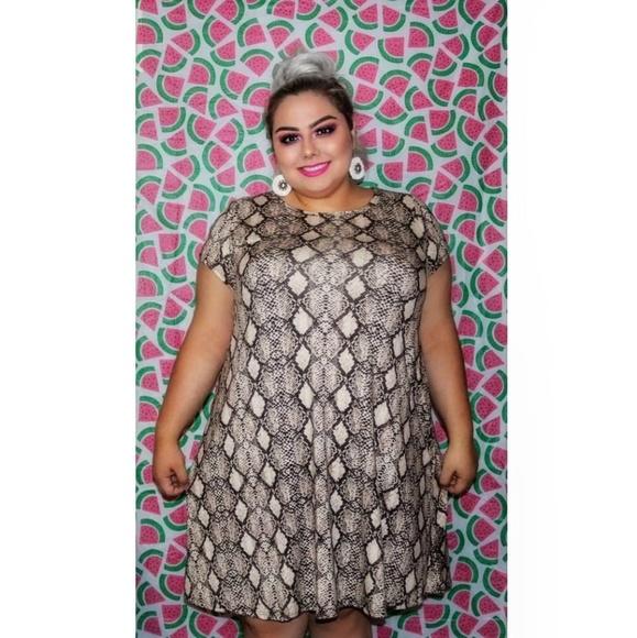 torrid Dresses   Plus Size Fit And Flare Snake Print Dress   Poshmark